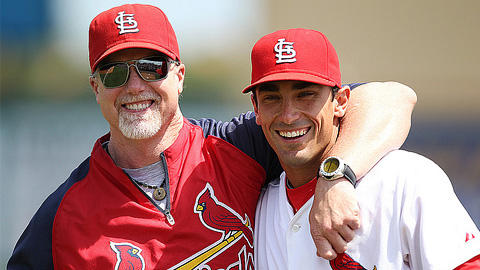 Matt Carpenter (with Mark McGwire) could see time at Memphis this year.